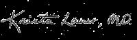 Dr. Krista Lauer signature